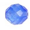 Fire polished 14mm Blue Opal